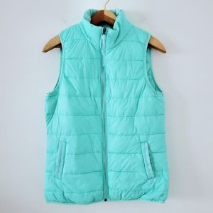Xersion Turquoise Lightweight Packable Puffer Vest